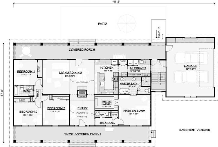 Farm Style Floor Plans 105-107