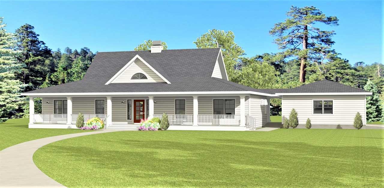 Farm Style House Plans Plan: 105-107