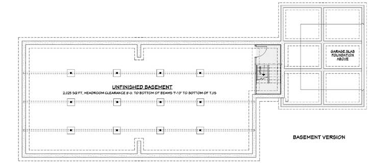 Lower Floor Plan: 105-107