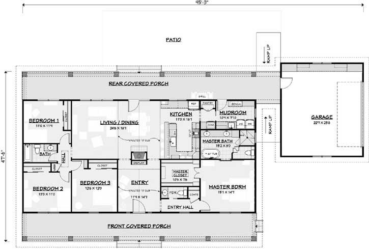 Main Floor Plan: 105-107