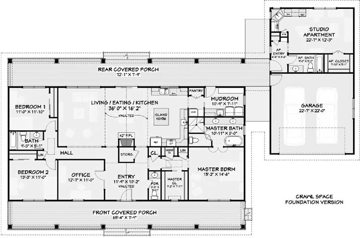 Country Style House Plans 105-108