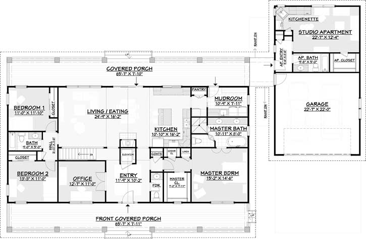 Main Floor Plan: 105-108