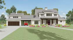 Farm Style Home Design Plan: 105-110
