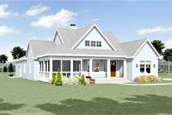 Modern-Farmhouse Style Home Design Plan: 105-115