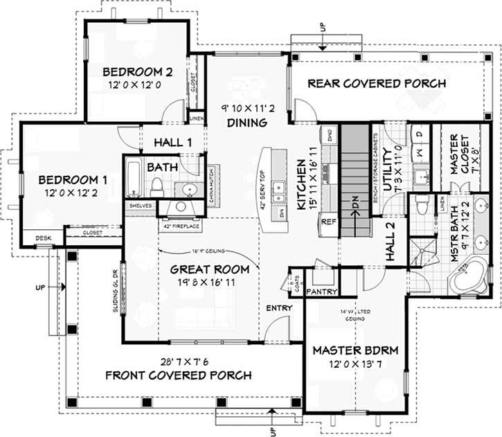 Modern-farmhouse Style House Plans 105-116
