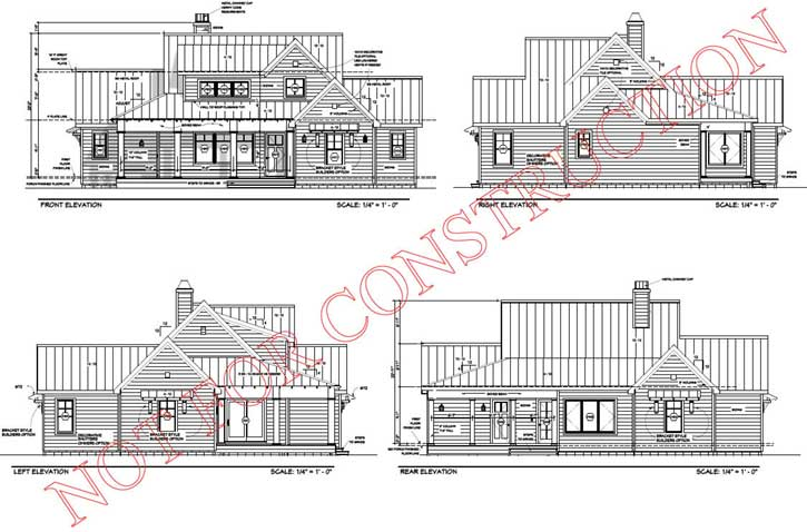 Rear Elevation Plan: 105-116