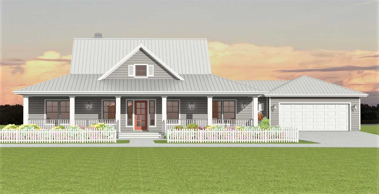 Farm Style Floor Plans Plan: 105-119