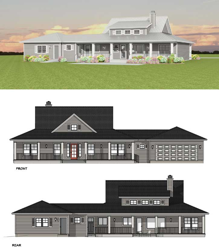 Rear Elevation Plan: 105-119