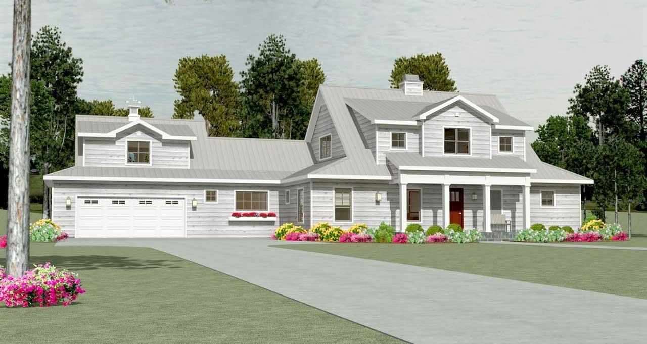 Modern-farmhouse Style House Plans Plan: 105-121