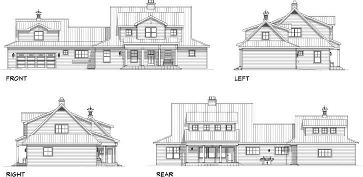 Rear Elevation Plan: 105-121