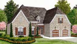English-Country Style House Plans 106-117
