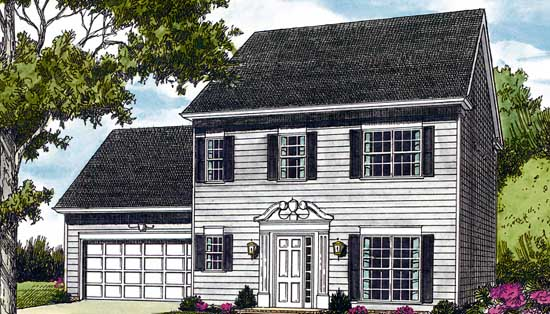 Colonial Style Floor Plans Plan: 106-127