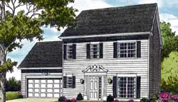 Colonial Style Home Design Plan: 106-127