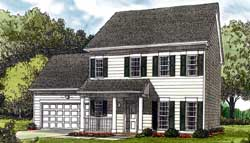 Colonial Style Home Design Plan: 106-128