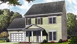 Traditional Style Home Design Plan: 106-129