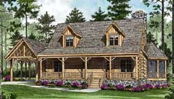 Log-Cabin Style House Plans 106-144