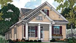 Craftsman Style Home Design Plan: 106-175