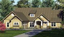 Craftsman Style Home Design Plan: 106-230