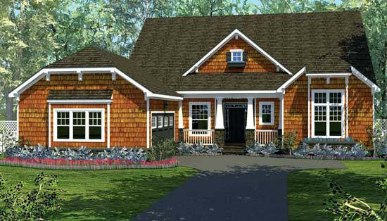 Craftsman Style Home Design Plan: 106-240
