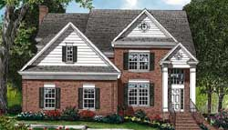 Southern-Colonial Style Floor Plans Plan: 106-245