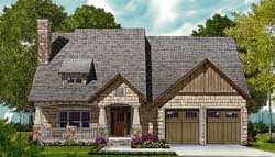 Craftsman Style Home Design Plan: 106-269