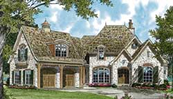 English-Country Style Floor Plans Plan: 106-297