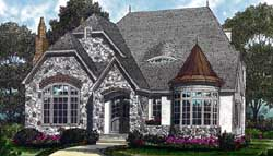 English-Country Style House Plans Plan: 106-339
