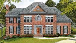 Southern-Colonial Style Home Design Plan: 106-366