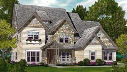 Craftsman Style Home Design Plan: 106-367