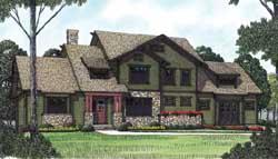 Craftsman Style Home Design Plan: 106-370