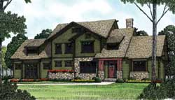 Craftsman Style House Plans Plan: 106-371