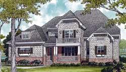 Shingle Style Home Design Plan: 106-377