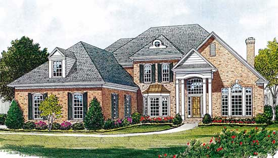 Southern-colonial Style Floor Plans Plan: 106-412
