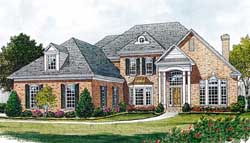 Southern-Colonial Style House Plans Plan: 106-412