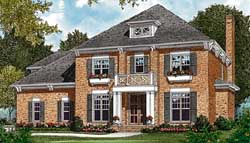 Colonial Style Floor Plans Plan: 106-431