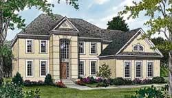 European Style Home Design Plan: 106-435