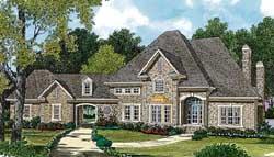 European Style Home Design Plan: 106-472
