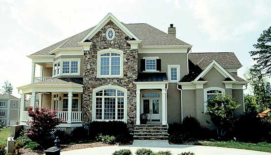 Southern-colonial Style Home Design Plan: 106-476