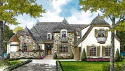 French-Country Style Floor Plans Plan: 106-497