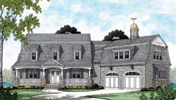 Hampton Style Home Design Plan: 106-522