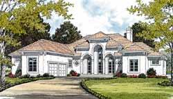 Mediterranean Style House Plans Plan: 106-558