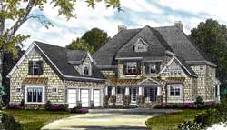Cottage Style Home Design Plan: 106-568