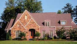 European Style Home Design Plan: 106-595