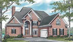 European Style Home Design Plan: 106-602