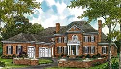 Southern-Colonial Style Floor Plans Plan: 106-613