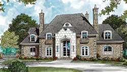 European Style Home Design Plan: 106-617