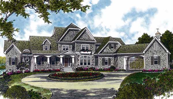 Shingle Style Home Design Plan: 106-639
