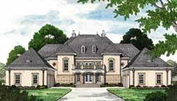 European Style Home Design Plan: 106-658