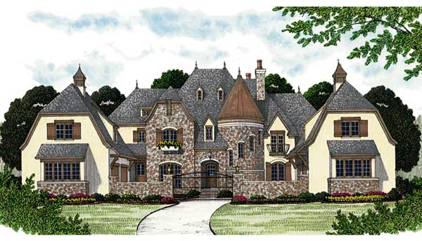 European Style House Plans Plan: 106-659