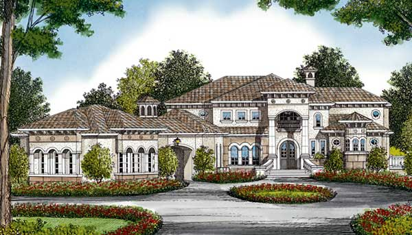 Mediterranean Style House Plans Plan: 106-663